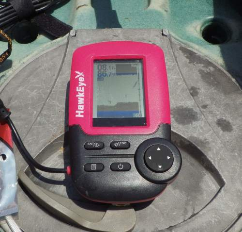 Hawkeye FT1PX fish finder.