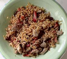 JoeTisserie cherry smoked Pork Fried Rice