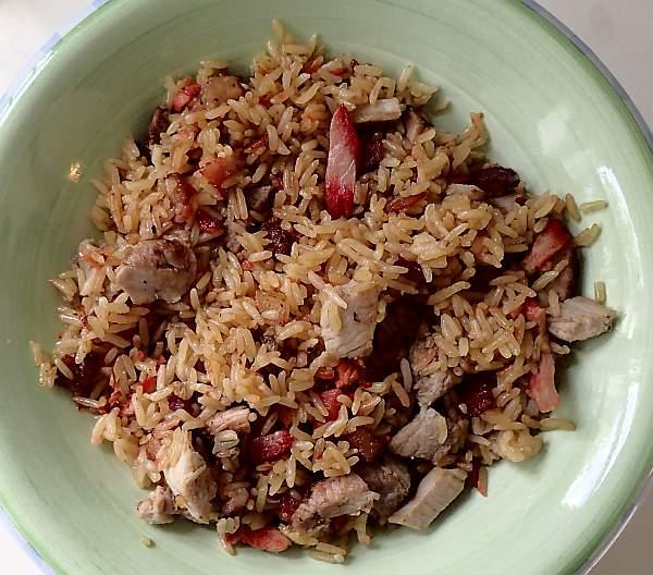 JoeTisserie cherry smoked pork fried rice