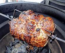 Kamado Joe JoeTisserie Pork Roast