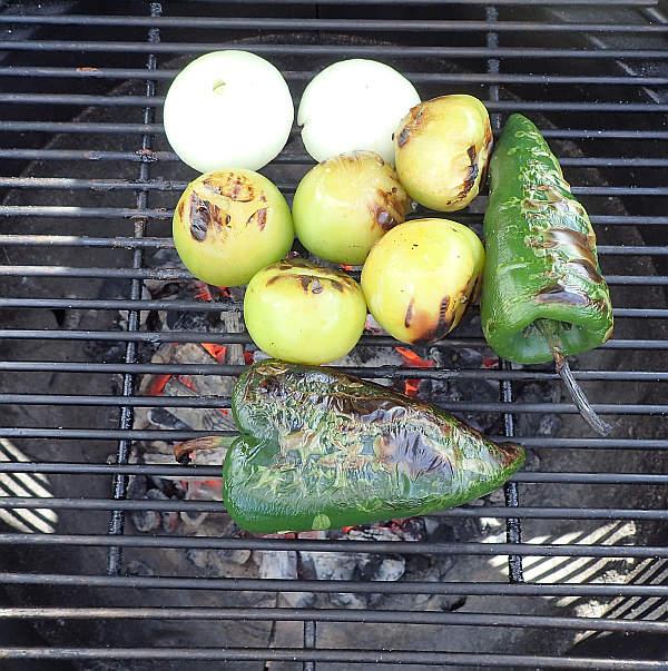 Roasting the veggies on the Kamado Joe, getting their char on!
