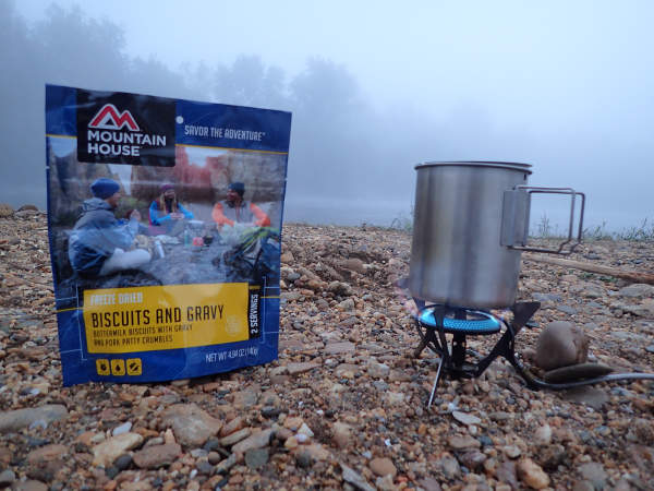 Mountain house biscuits and gravy bills for James river fishing report